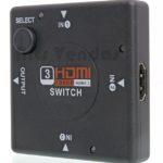 Compatível com dispositivos que utilizem transmissao via cabo HDMI(PS3, HD-Dvd,SKY-STB,PS3,Xbo×3.6,etc.) 1080P. 3 entrada e 1 saída