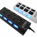 4 Conexões USB. LED indicador de status, ideal para conexões de HD's, Scanner, Impressoras ou outros periféricos USB. USB 3.0, compatível com USB 2.0 e 1.1